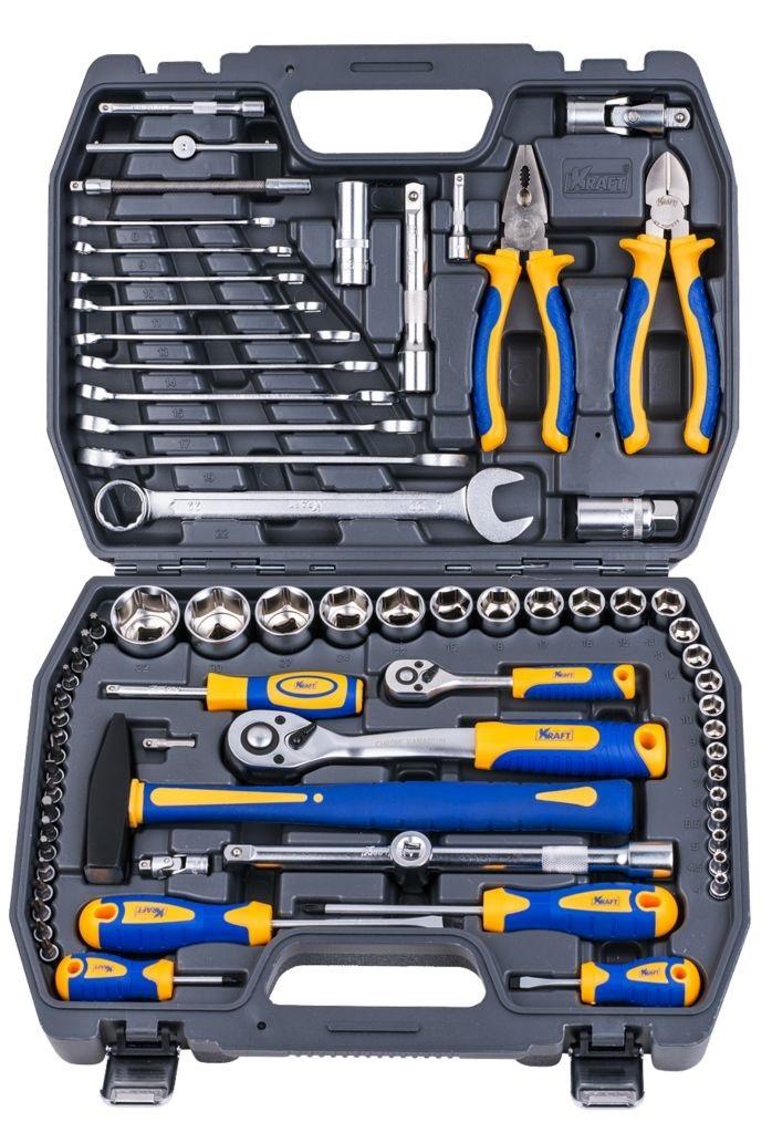 Набор инструментов универсальный Kraft КТ 700677 пассатижи kraft кт 700571