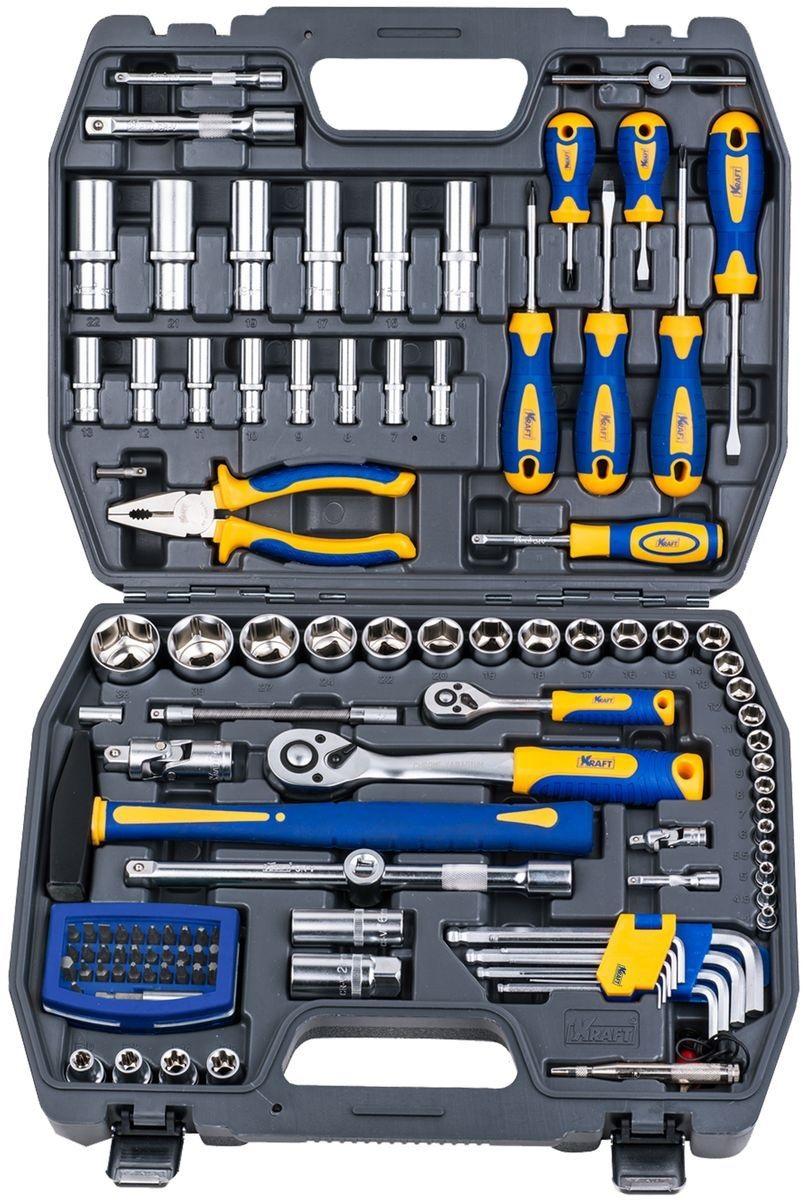 Набор инструментов универсальный Kraft КТ 700678 пассатижи kraft кт 700571