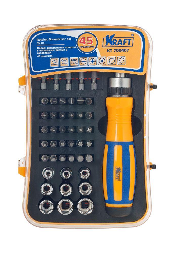 Отвертка реверсивная Kraft КТ 700407 отвертка kraft kt 700428