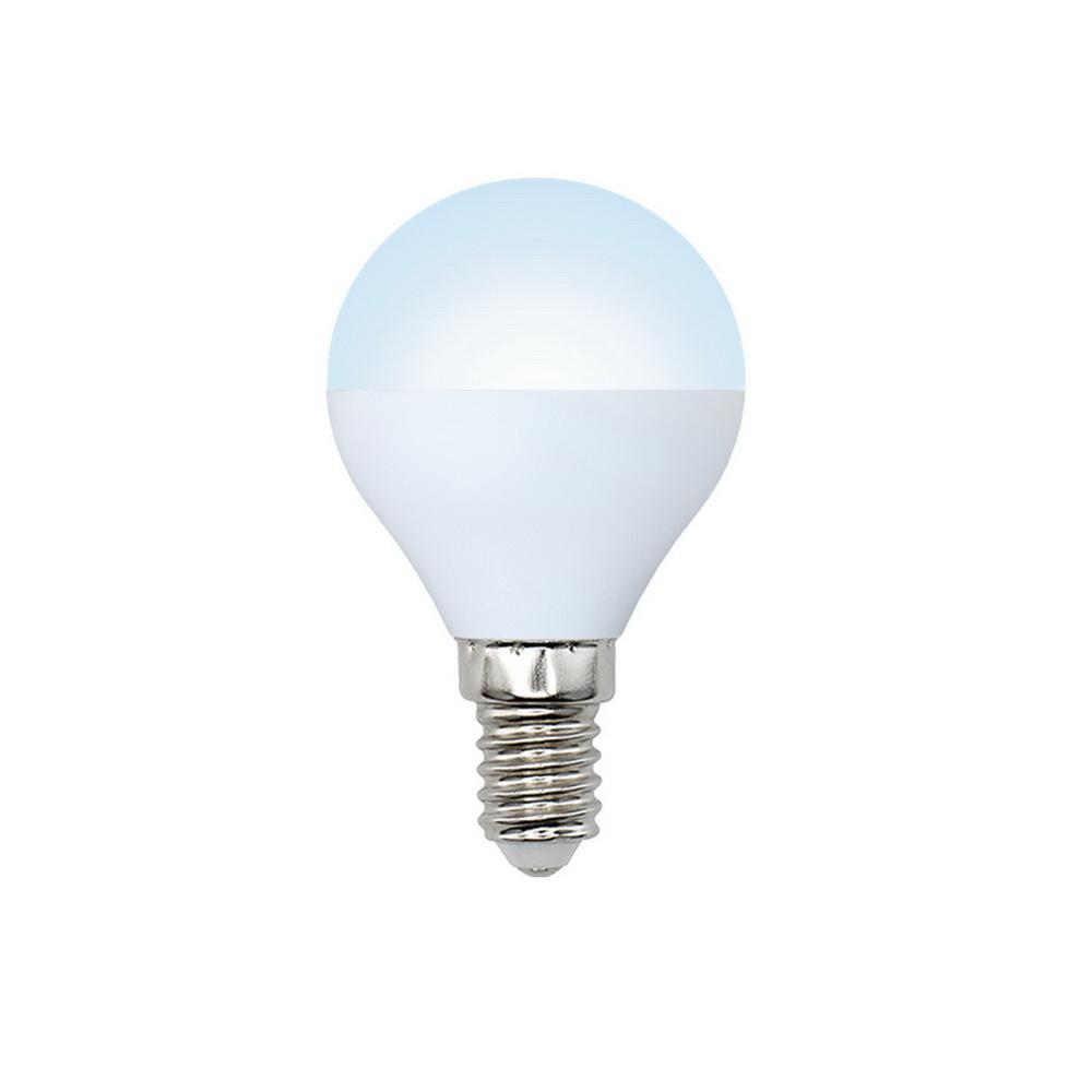 Лампа светодиодная Volpe Led-g45-6w/nw/e14/fr/dim/o 10шт лампа светодиодная диммируемая 08700 gu10 6w 4500k jcdr матовая led jcdr 6w nw gu10 fr dim 38d uniel 1177634