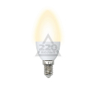 Лампа светодиодная VOLPE LED-C37-6W/WW/E14/FR/O 10шт