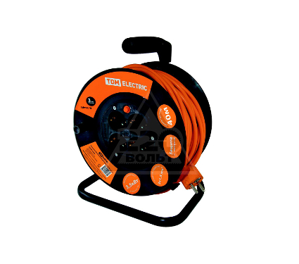 Удлинитель TDM УКз16-004 IP44 4 места/40м