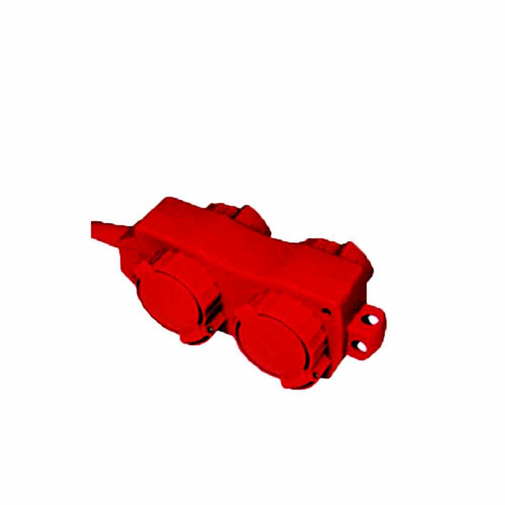 Удлинитель Tdm Уз16-02/02 с крышками ip44. 4 места/5м ПВС 3х1.0 16А 220В 3500Вт