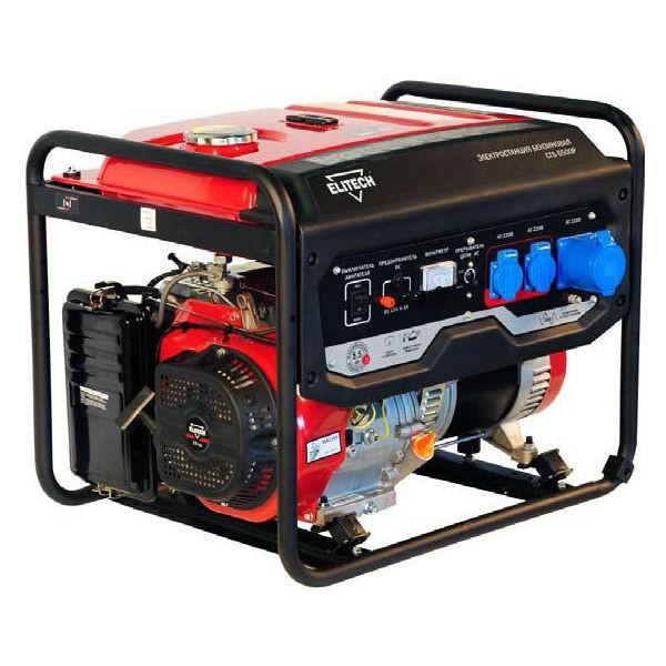 Бензиновый генератор Elitech СГБ 6500 Р  генератор бензиновый elitech сгб 6500 р