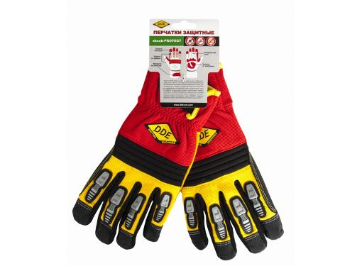 Перчатки садовые DDE shock-PROTECT-L