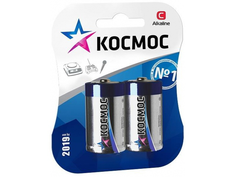 Батарейка КОСМОС Lr14 батарейка космос koclr6 24box