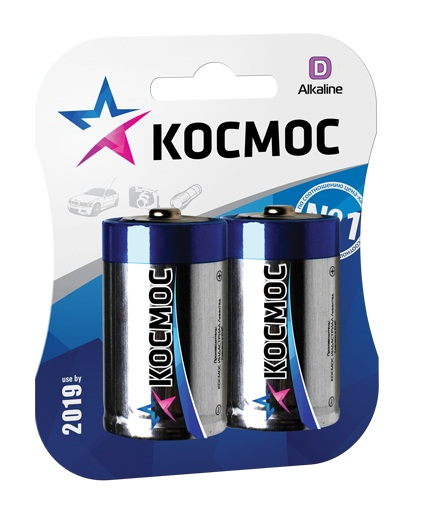 Батарейка КОСМОС Lr20 батарейка космос koclr6 24box