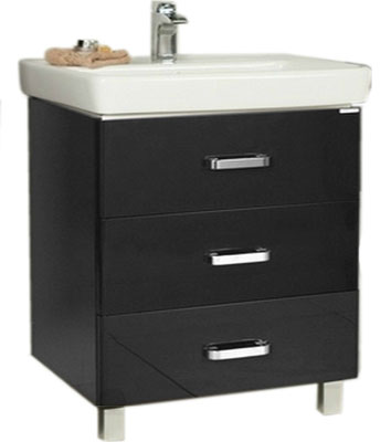 Тумба АКВАТОН АМЕРИНА 80 М черный акватон мебель для ванной акватон минима