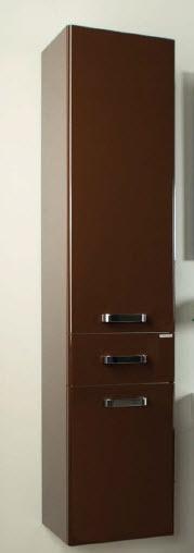 Шкаф АКВАТОН АМЕРИНА подвесной колонна 34х152х31.8 тёмно-коричневый