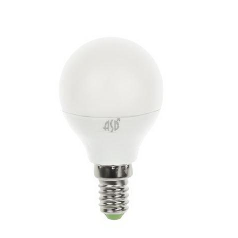 Лампа светодиодная Asd Led-ШАР-standard 5.0Вт 160-260В Е14 4000К