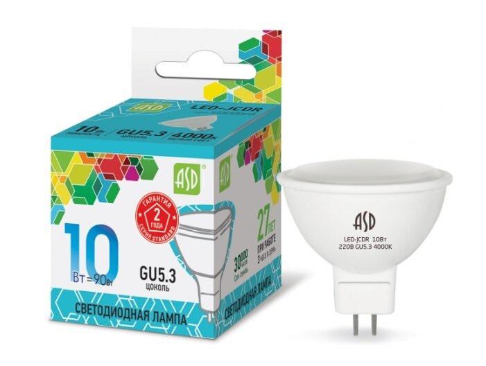 Лампа светодиодная Asd Led-jcdr-standard 5.5Вт gu5.3 4000К 220В
