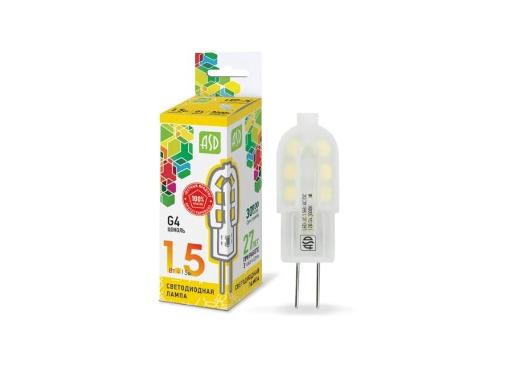 Лампа светодиодная ASD LED-JC-standard 1.5Вт 12В G4 4000К