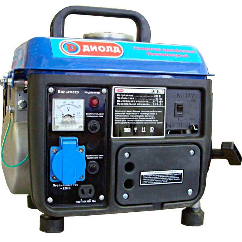 Бензиновый генератор ДИОЛД ЭГБ-1 генератор бензиновый eurolux g2700a