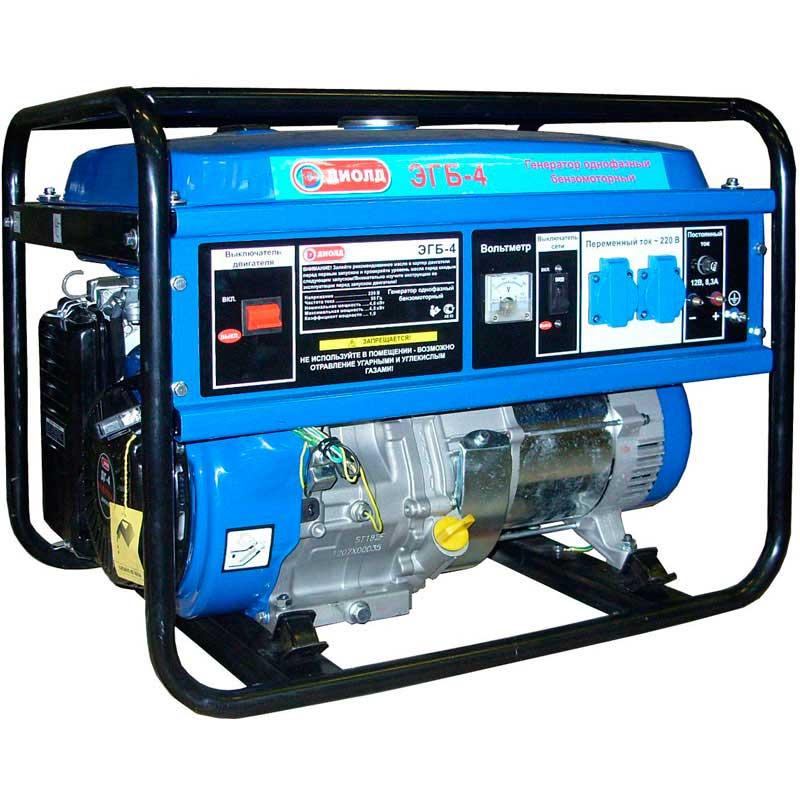 Бензиновый генератор ДИОЛД ЭГБ-4 генератор бензиновый eurolux g2700a