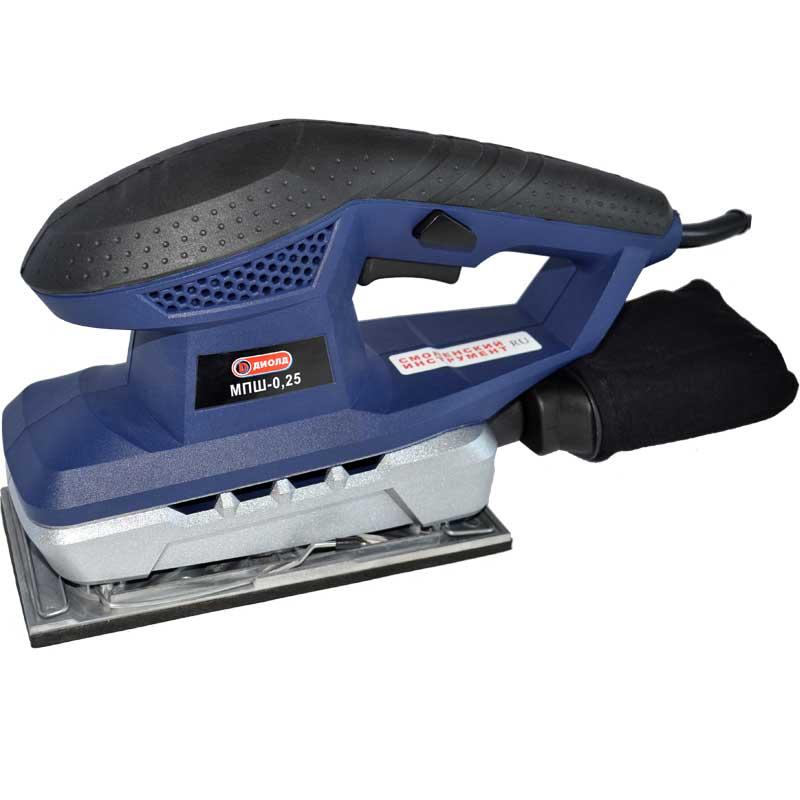 Машинка шлифовальная плоская (вибрационная) ДИОЛД МПШ-0,25 машинка шлифовальная плоская вибрационная bosch gss 23 ae 0 601 070 721