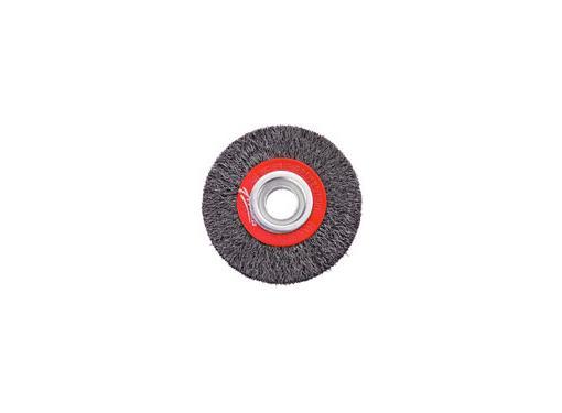 Кордщетка АТАКА плоская 150мм для шлиф.машины гофрированная сталь (34733)