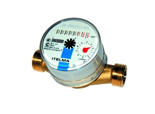 Счетчик холодной воды ITELMA WFK20.D110, Ду 15мм, L 110мм (без штуцеров)