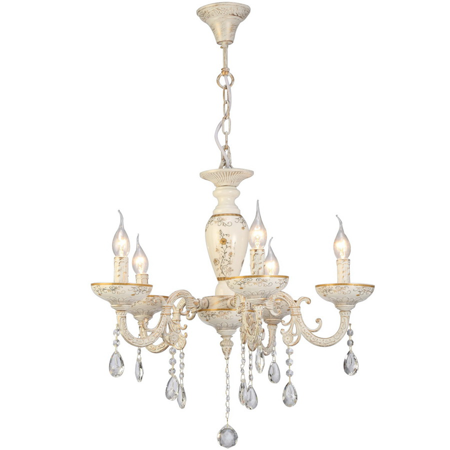 Люстра Arte lamp Dubai a5335lm-5wg бра arte lamp dubai a5335ap 1ba