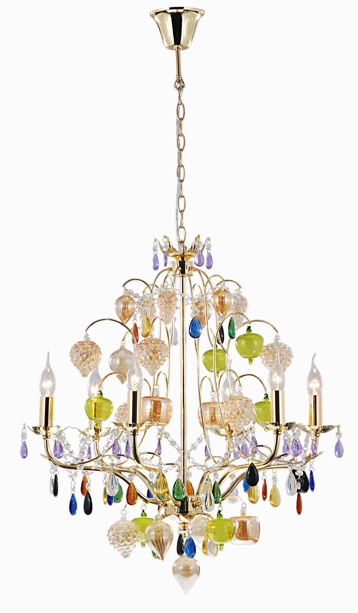 все цены на Люстра Arte lamp Ricchezza a2011lm-6go онлайн