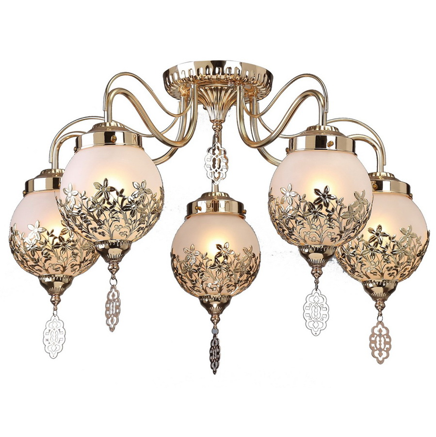 Люстра Arte lamp Moroccana a4552pl-5go люстра на штанге arte lamp modello a6119pl 5go