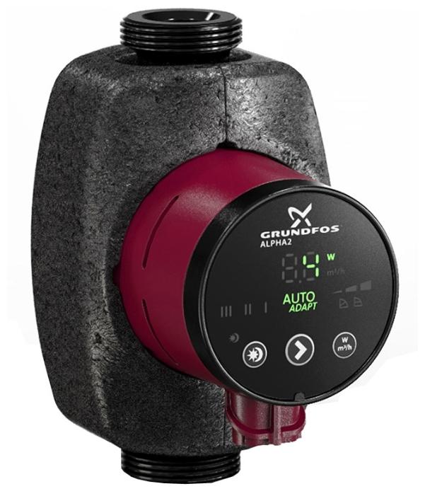 Циркуляционный насос Grundfos Alpha2 25-40 n циркуляционный насос grundfos alpha2 25 60 для систем отопления с гайками