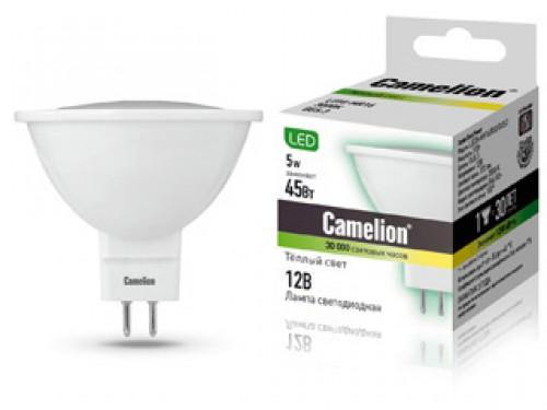 Лампа светодиодная Camelion Led5-mr16/830/gu5.3 лампа светодиодная camelion led5 cw35 830 e14