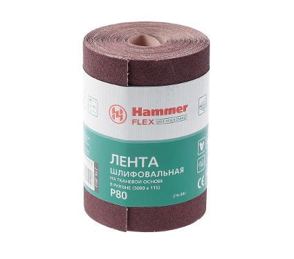 Лента шлифовальная в рулоне HAMMER Flex  216-002