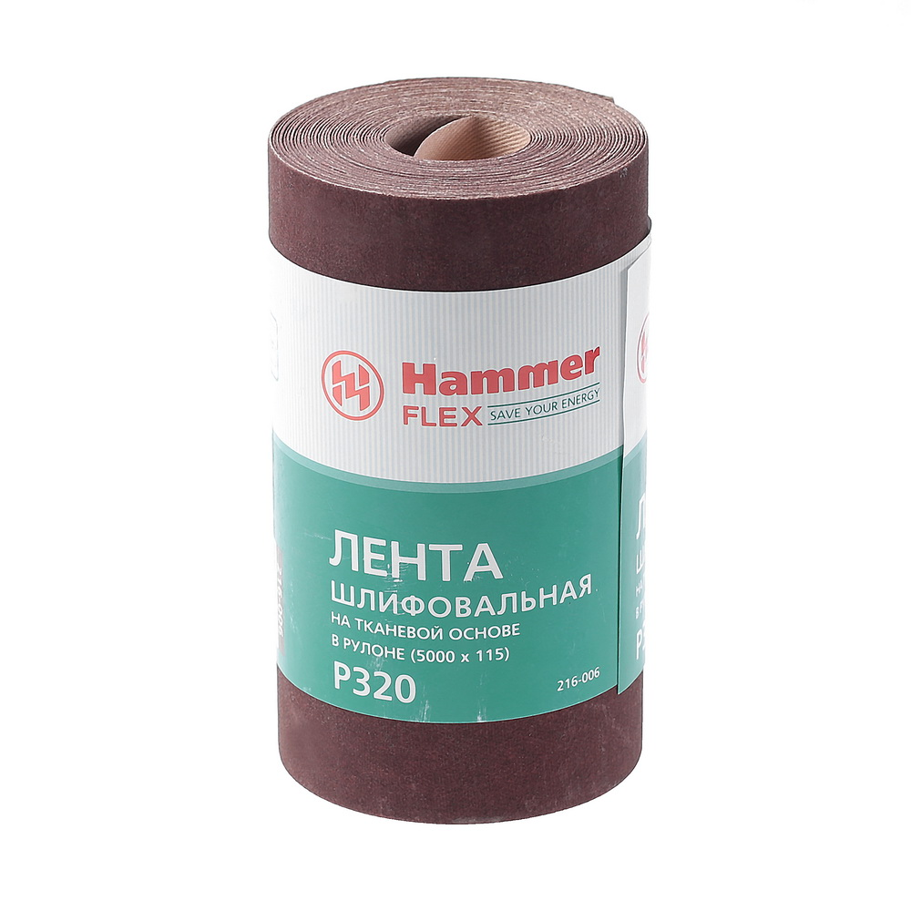 Шкурка шлифовальная в рулоне Hammer Flex 216-006 шкурка шлифовальная в рулоне hammer flex 216 003