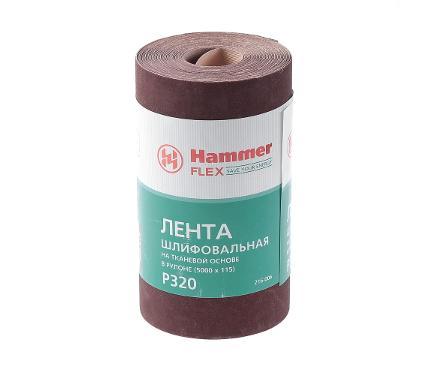 Лента шлифовальная в рулоне HAMMER Flex  216-006