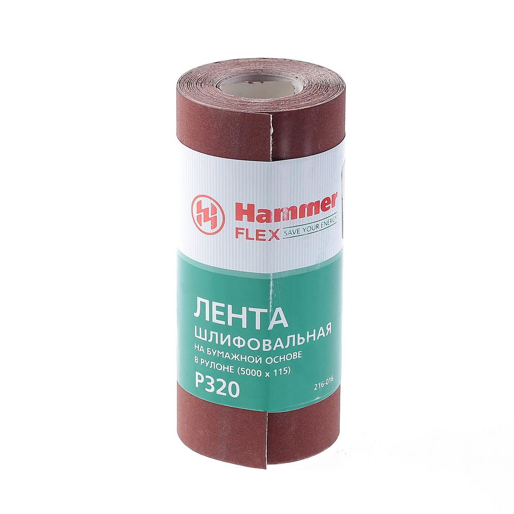 Шкурка шлифовальная в рулоне Hammer Flex  216-016 домкрат alca 2т 437 000