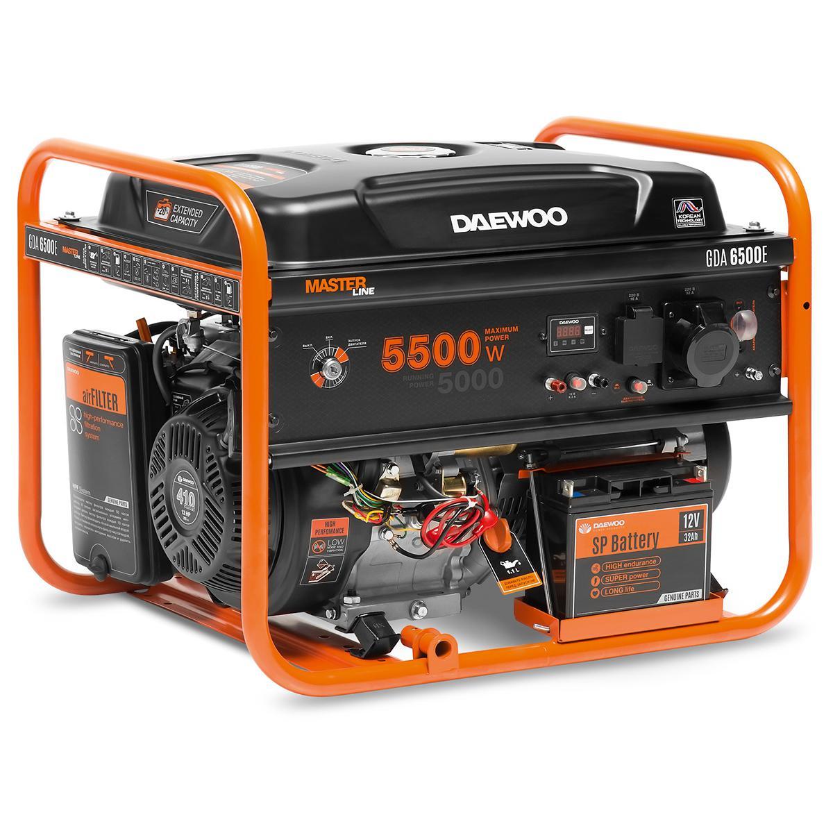 Генератор Daewoo Gda 6500e электрический генератор и электростанция daewoo power products gda 3500 e
