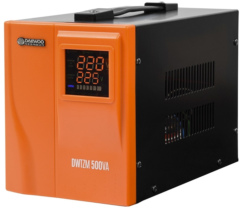 Стабилизатор напряжения Daewoo Dw-tzm500va стабилизатор daewoo dw tzm500va basic line