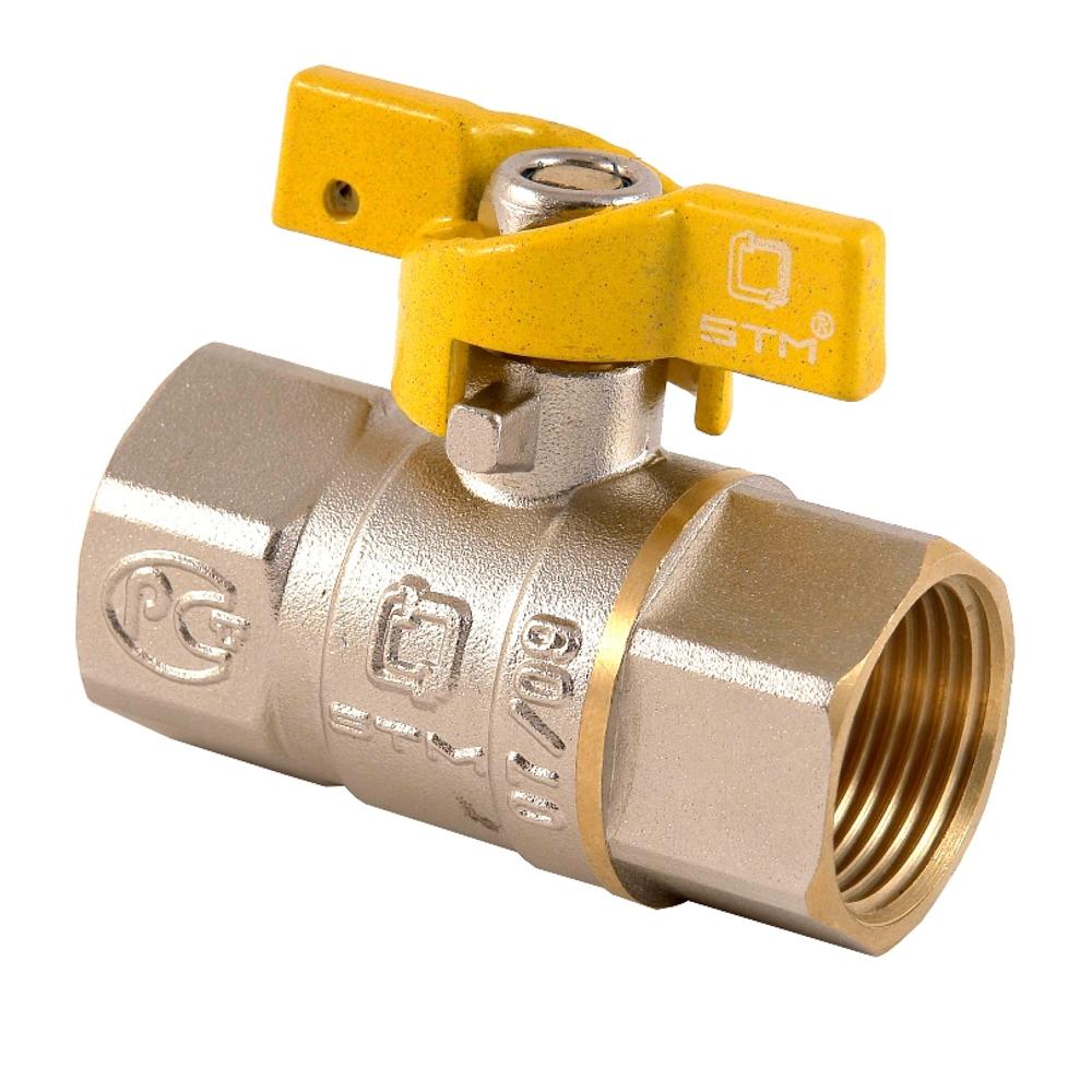 Шаровые краны газа СТМ (STM) муфтовые