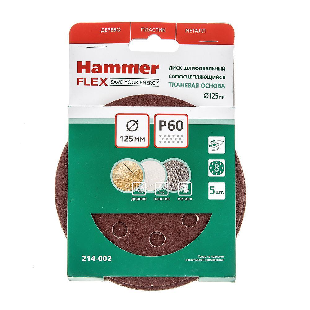 Цеплялка (для ЭШМ) Hammer Flex 125 мм 8 отв. Р 60 5шт hammer flex nst1000a