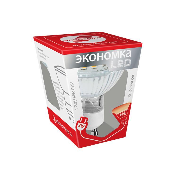 Лампа светодиодная ЭКОНОМКА Космос eco_led3wgu10c30 теплый пол теплолюкс profimat160 10 0