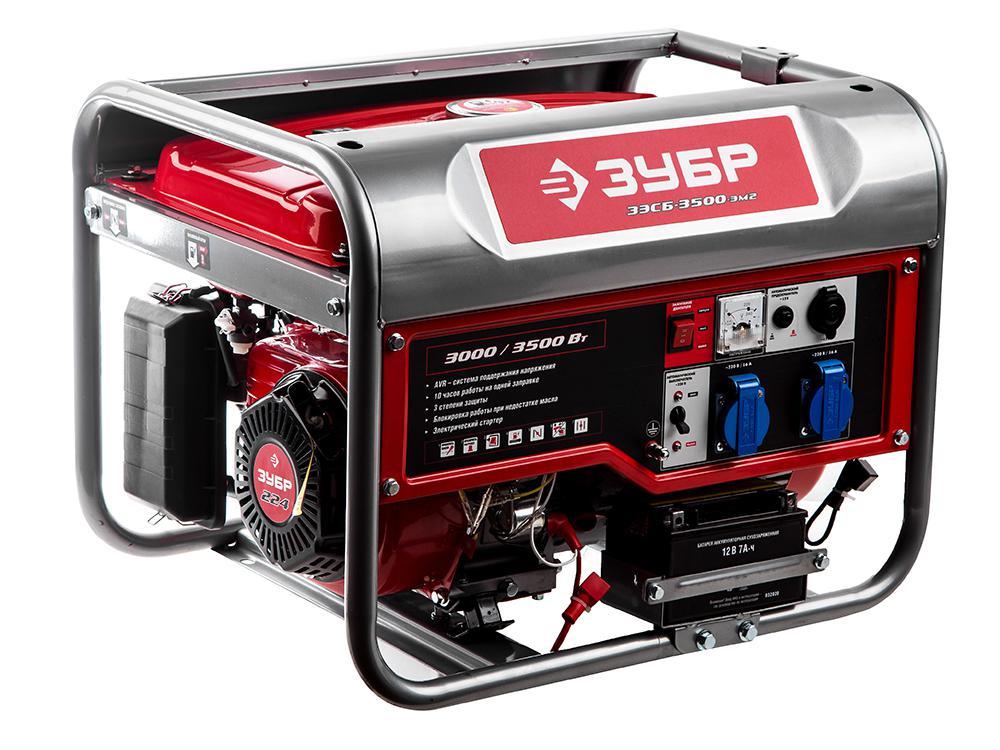 Бензиновый генератор ЗУБР ЗЭСБ-3500-ЭМ2 генератор бензиновый зубр зэсб 1200