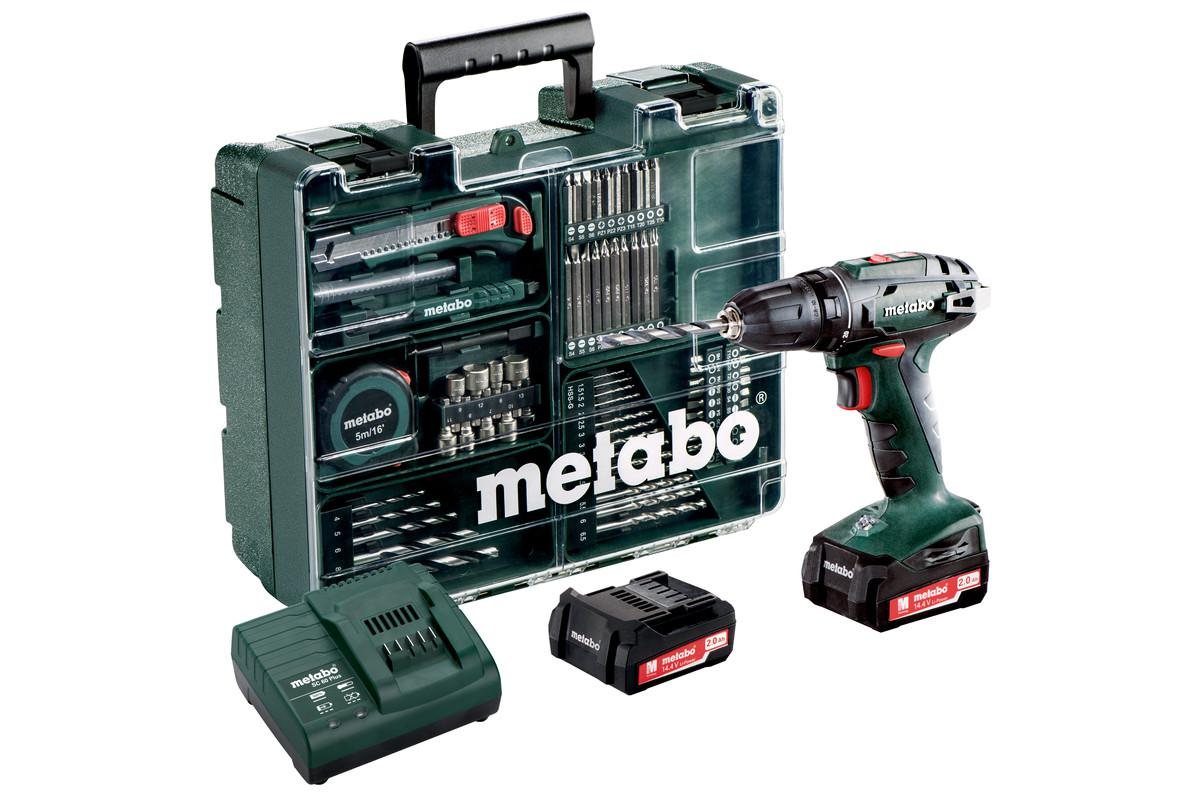 Дрель-шуруповерт Metabo Bs14.4 (602206880) аккумуляторный шуруповерт metabo bs 14 4 10мм 2 0ah x2 case set 602206880