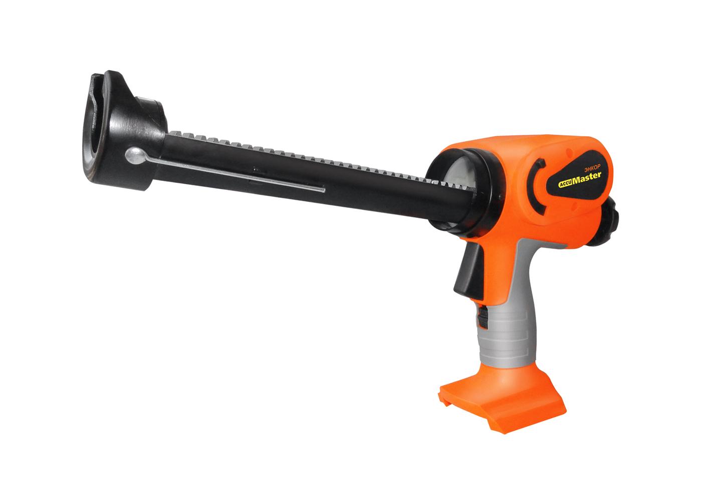 Пистолет для герметика ЭНКОР АКМ1850 БЕЗ АКК. И ЗУ энкор акк привод энкор акм3610 49310э 49310э