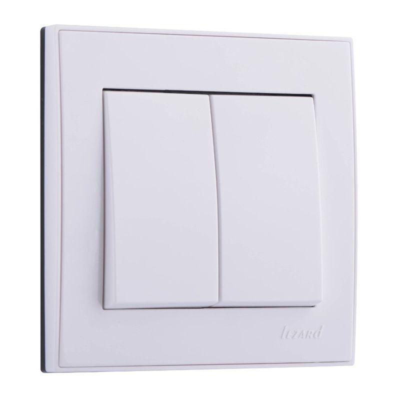 Купить Выключатель Lezard 703-0202-106, белый