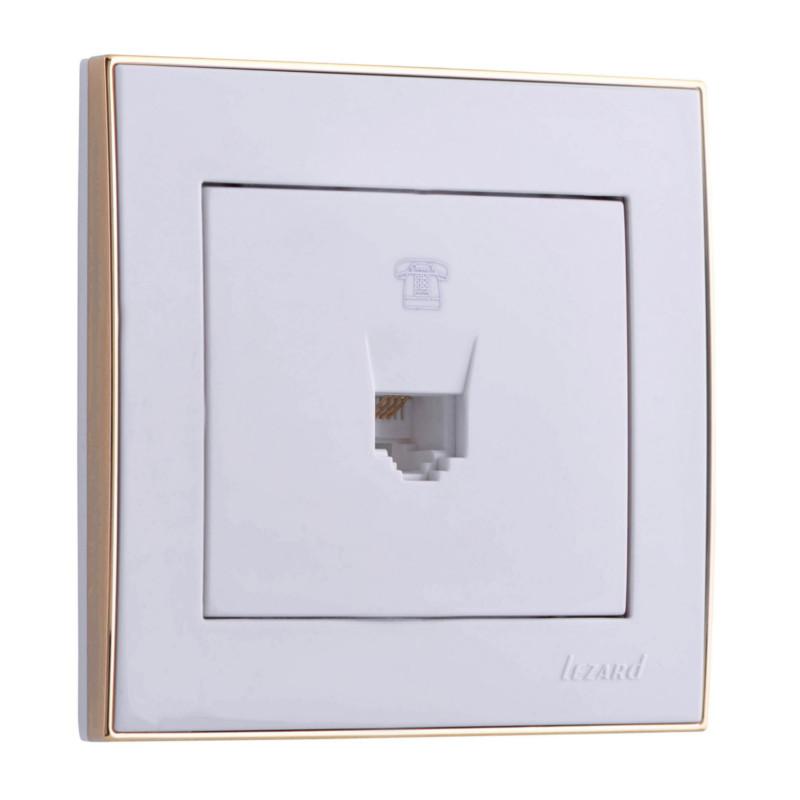 Розетка Lezard 703-0226-137 телефонная розетка abb bjb basic 55 шато 1 разъем цвет черный