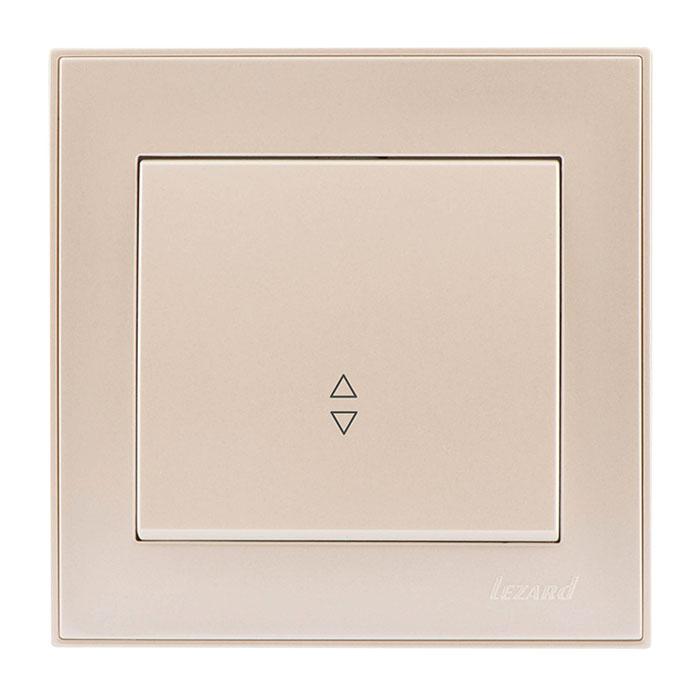 Выключатель Lezard 703-3030-105 выключатель двухклавишный наружный бежевый 10а quteo