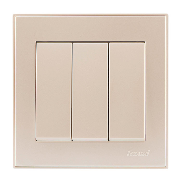 Выключатель Lezard 703-3030-109 выключатель двухклавишный наружный бежевый 10а quteo
