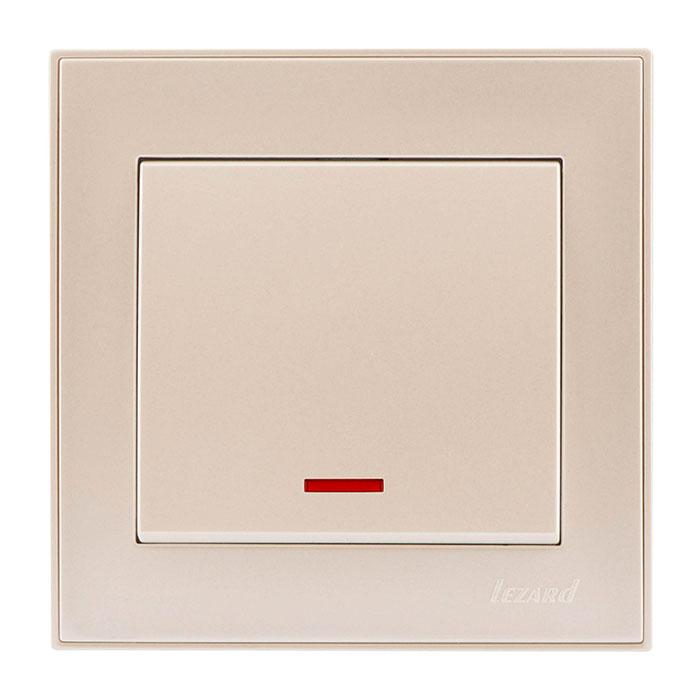 Выключатель Lezard 703-3030-111 выключатель двухклавишный наружный бежевый 10а quteo
