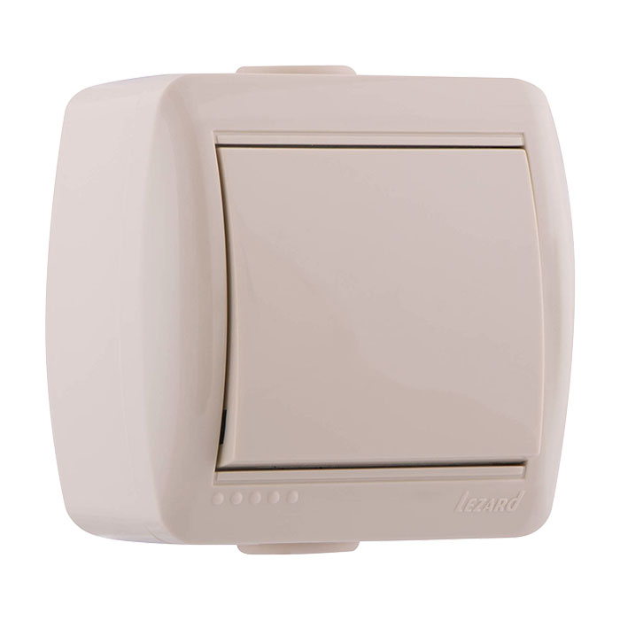 Выключатель Lezard 710-0300-100 выключатель двухклавишный наружный бежевый 10а quteo