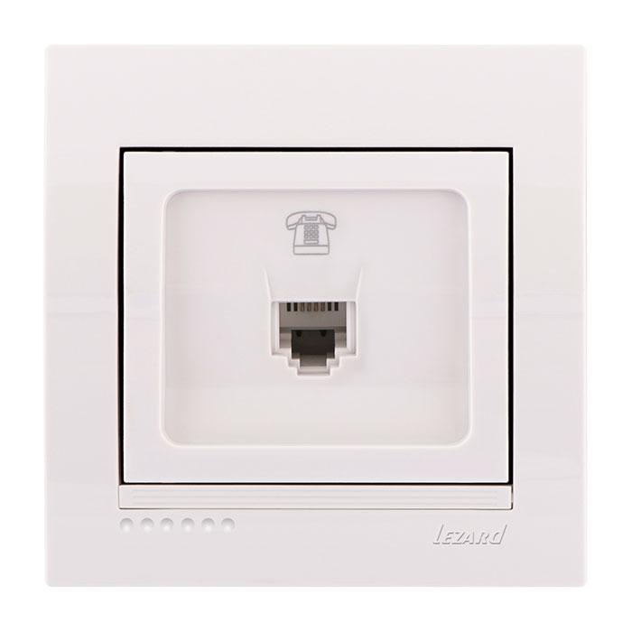 Розетка Lezard 702-0202-137 телефонная розетка abb bjb basic 55 шато 1 разъем цвет черный