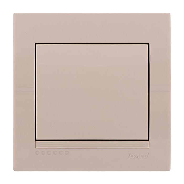 Выключатель Lezard 702-0303-100 выключатель двухклавишный наружный бежевый 10а quteo