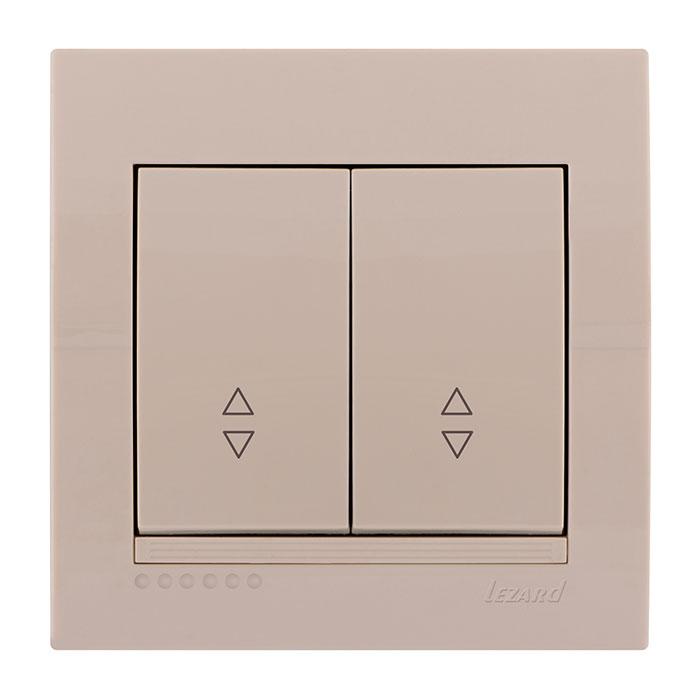 Выключатель Lezard 702-0303-106 выключатель двухклавишный наружный бежевый 10а quteo
