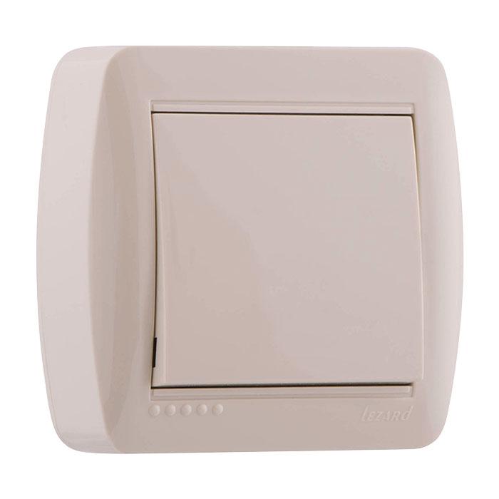 Выключатель Lezard 711-0300-100 выключатель двухклавишный наружный бежевый 10а quteo