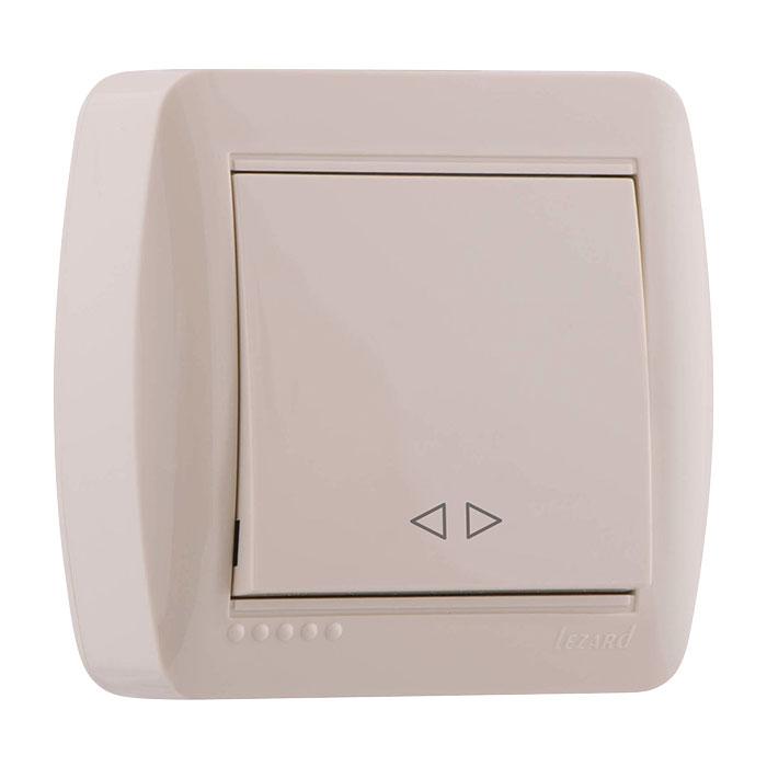 Выключатель Lezard 711-0300-105 выключатель двухклавишный наружный бежевый 10а quteo