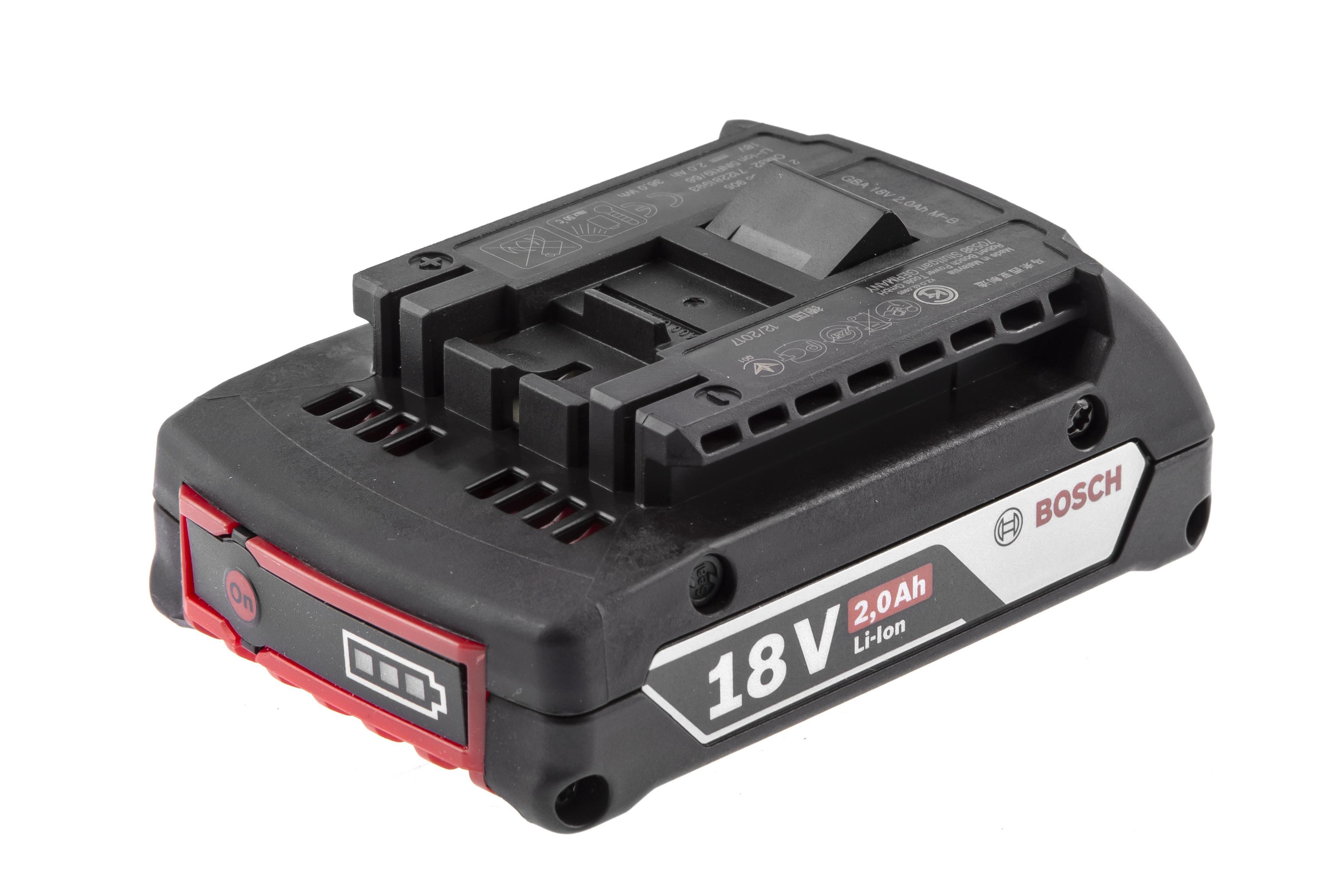 Аккумулятор Bosch 18В 2Ач li-ion (1600z00036) аккумулятор bosch pba 18в 2 5 ач w b